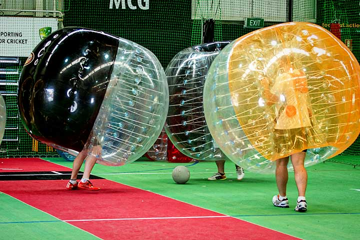 Bubble Soccer in action